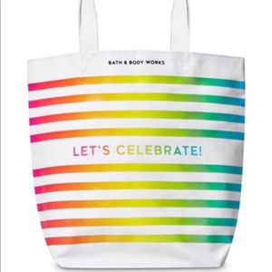 BATH AND BODY WORKS LETS CELEBRATE TOTE BAG